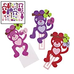 Valentine Monkey Bookmark Craft Kit - Crafts for Kids & Novelty Crafts