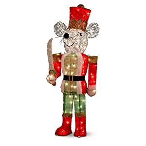 Pre lit nutcracker soldier mouse christmas for 4 foot nutcracker decoration