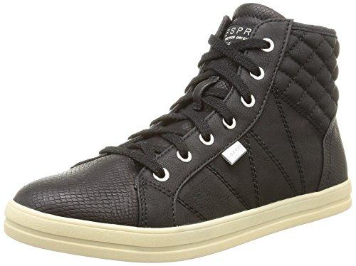 ESPRIT Mega Bootie, Sneaker alta donna, Nero (Nero (001 Black)), 37