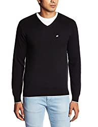 People Men's Cotton Sweater (8903880690182_P10101188003100_Medium_Black)