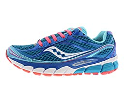 Saucony Women\'s Ride 7 Running Shoe,Blue/Vizicoral,7 M US