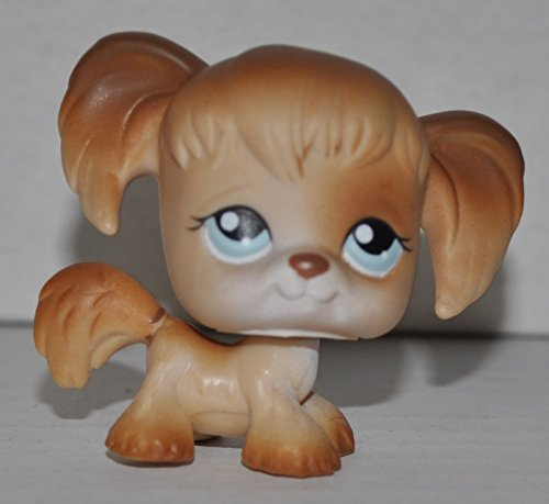 Spaniel #200 (Cocker Spaniel, Tan, Blue Eyes, White Face) - Littlest Pet Shop (Retired) Collector Toy - LPS Collectible Replacement Figure - Loose (OOP Out of Package & Print)