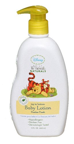 Disney Baby Lotion Powder, Fresh, 2 Pack - 1