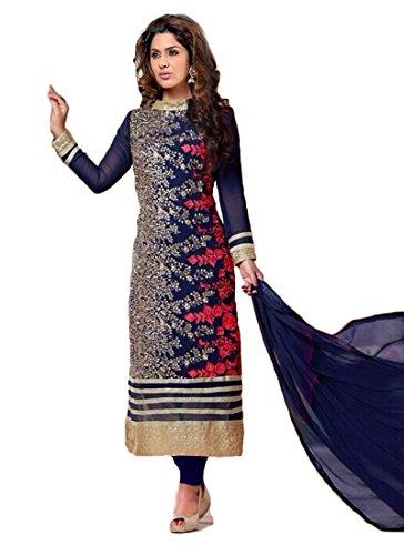 Janasya-Womens-Georgette-Dress-Material-HS-DR-003ABlue
