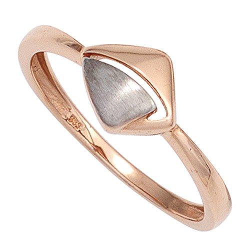 Damen Ring 333 Gold Rotgold teilrhodiniert