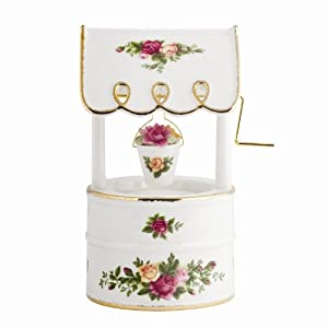 Royal Albert Old Country Roses Musical Wishing Well, 6-Inch
