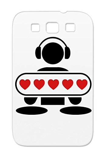 Shock-Absorbent Red Tpu Music Mic Scratching Headphones Hip Hop Old School Miscellaneous Vinyls Breakdance Vinyl Record Party Graffiti Disco Heart Battle Dj Music Rap Freestyle Note Talent Love Mc Beat F2 For Sumsang Galaxy S3 Case Cover