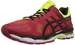 ASICS Men\'s Gel-Kayano 22 Running Shoe, Red Pepper/Black/Flash Yellow, 8 M US