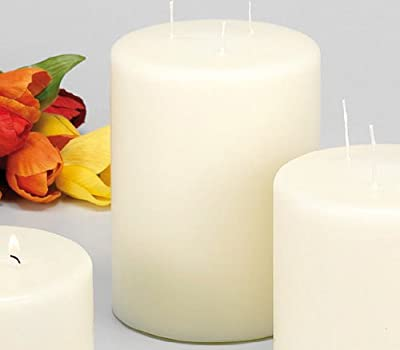 Giant 3 Wick Ivory Pillar Candle - Tall