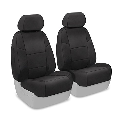 Coverking Custom Fit Front 50/50 Bucket Seat Cover for Select Infiniti FX-35/45 Models - Suede (Charcoal) (Fx 35 Seat Cover compare prices)