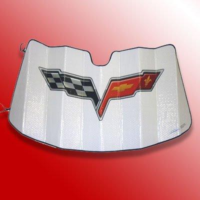 Chevrolet Corvette C6 Logo Custom Fit Sun Shield