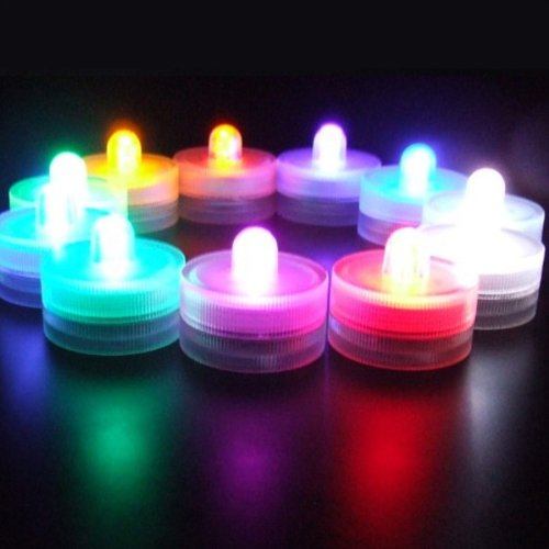 Led-Cube® Submersible Wedding Floral Decoration Tea Light Flameless,Color Changing With 7 Rainbow Colors (48, Color)