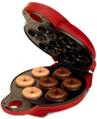 New Shop New Electric Non Fryer Mini Donut Maker Baker Doughnut Machine Red Bella 13466