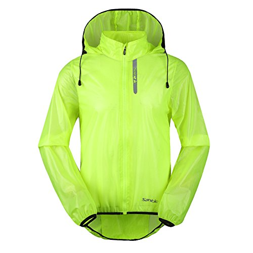 Santic-Mens-Cycling-Skin-Coat-Jersey-Bicycle-Windproof-Jacket-Rain-Coat-Green