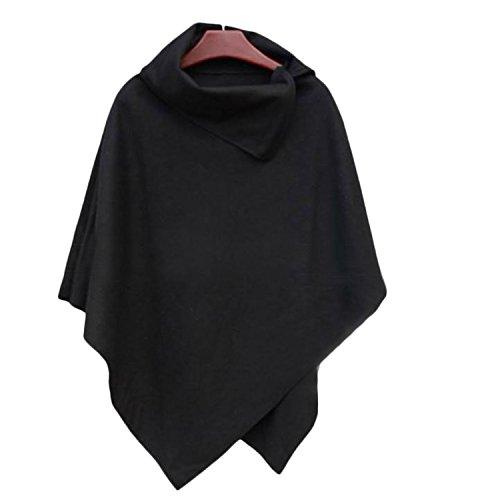 CRAVOG moda donna cappotto poncho mantello tops maglione elegante