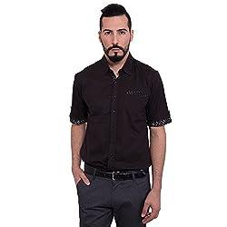 FBBIC Men's Dark coloured Cotton Shirt