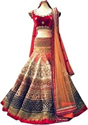 Royal Fashion off white DESIGNER LEHENGS CHOLI MATERIAL.