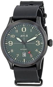 AVI-8 Men's AV-4021-05 FlyBoy Analog Japanese-Automatic Black Watch