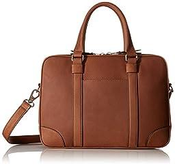 Fossil Baldwin Leather Cognac Workbag, Cognac