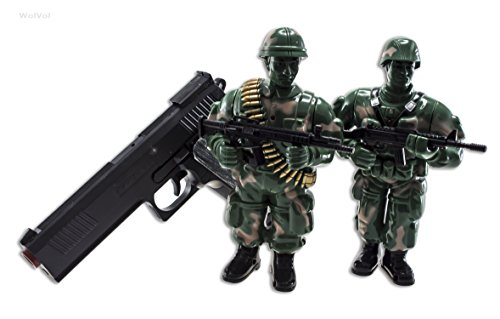 Soldier Toys For Boys : Wolvol soldiers shooting mission playset with laser gun