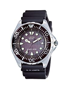 Citizen Men's BN0000-04H Eco-Drive Professional Diver Black Rubber Strap Watch