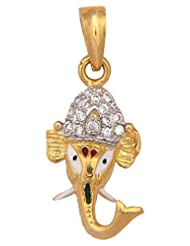 Vama Collections One Gram Gold Plated Ganesh Ganesha Pendant With Cubic Zirconia Diamond For Men Women Children... - B00ORNIPJE