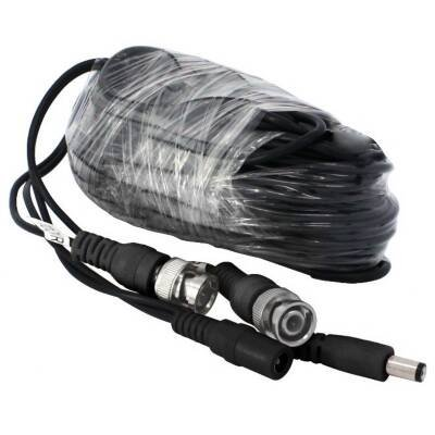 Zmodo Cable W-VP1018 60Feet AWG30 Premade Siamese CCTV Video and Power Cable