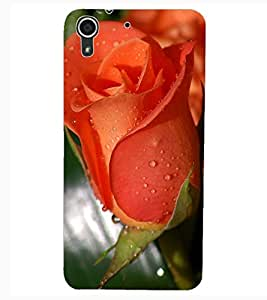 ColourCraft Rose Design Back Case Cover for HTC DESIRE 626