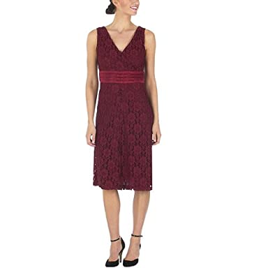Isaac Mizrahi Dress in Bing Cherry