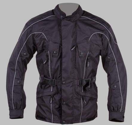 Mens Waterproof Motorcycle Biker Jacket Black 2XL 48