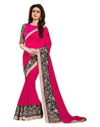 Offo Deals Partywear Traditional Pink Women Saree ss-1804b