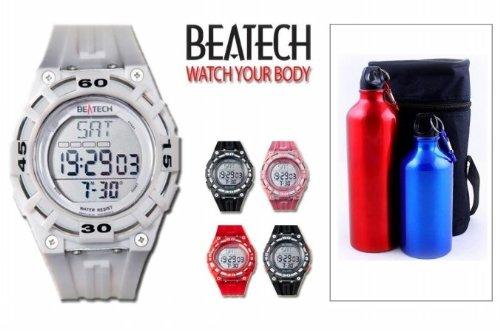 Cheap Sopra, Inc. Beatech BH5000W + FL55 Beatech Heart Rate Monitor-Alarm clock-Stopwatch-Countdown Timer Watch with Aluminum Camping Bottle Set (Beatech BH5000W + FL55)