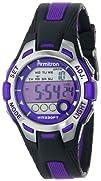 Armitron Sport Womens 457030PUR Purple Accented Black Resin