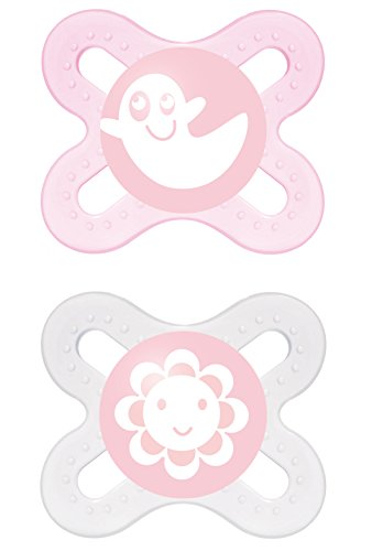 MAM 66643822 - Start, Ciuccio in silicone 0-2 mesi, confezione doppia, bambina