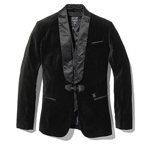 G-Star Raw Men's Rct Midnight Velvet Double Blazer in Black