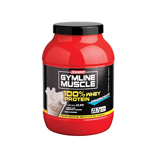 Integratore Alimentare Per Lo Sport A Base Di Proteine Del Siero Di Latte Gymline Muscle 100% Whey Protein Concentrate Gusto Mandorla 700 G