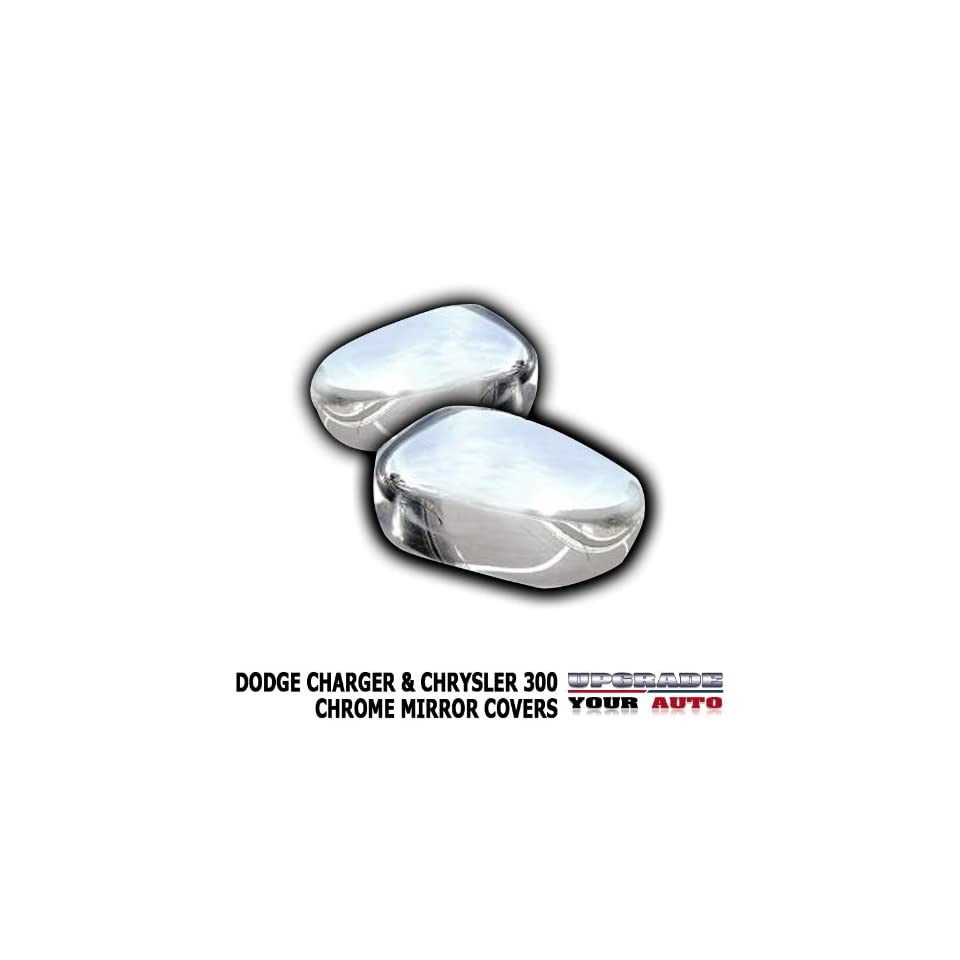 2006 2010 Dodge Charger Chrome Mirror Covers (For Painted Mirrors)