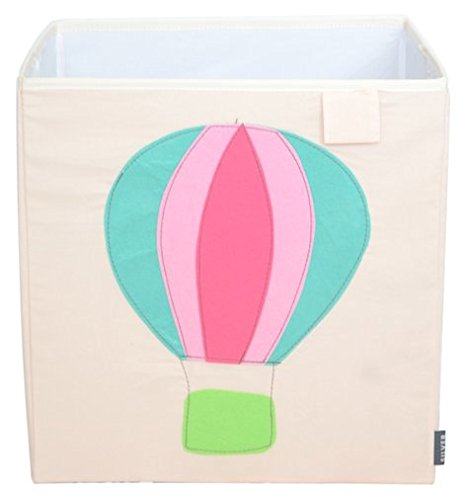 Best Buy! Toy Storage Box Bin Organizer Collapsible, Air Ballon- 100%