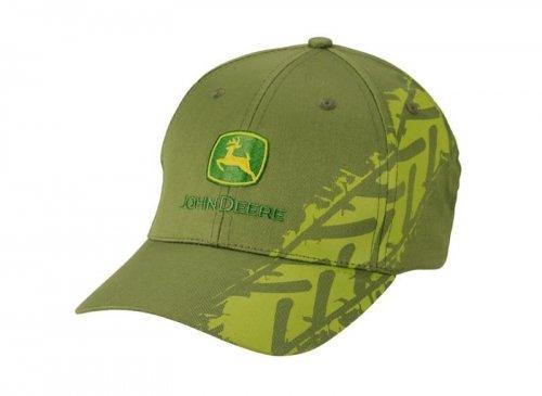 john-deere-berretto-in-meh-motivo-impronta-di-pneumatico-colore-verde-oliva