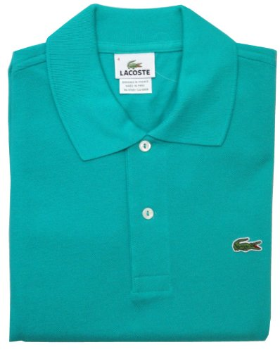 Lacoste Mens Short Sleeve Classic Pique Polo, Courtyard Green
