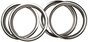 URO Parts TR525AK Stainless Steel Wheel Trim Ring Set – 4 Piece
