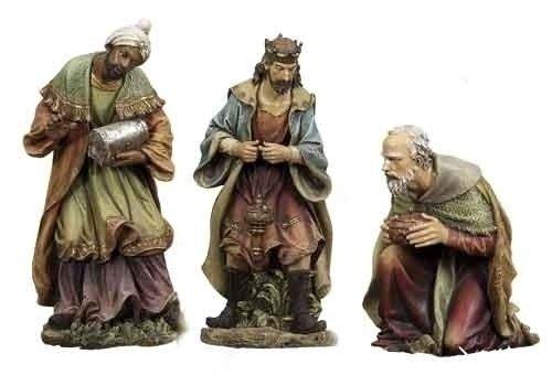 3-Piece Joseph's Studio Three Kings Outdoor Christmas Nativity Statue Set 39