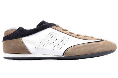 Hogan scarpe sneakers uomo in pelle olympia bianco