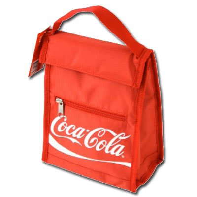 Red Insulated Coca-Cola Script Lunch Bag front-540876