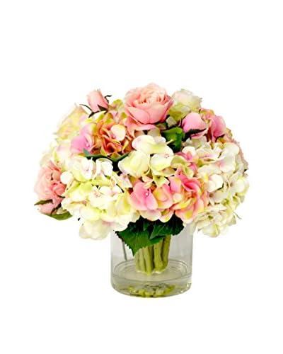 Creative Displays Mixed Pastel Floral Water Pot, Pink/Crème