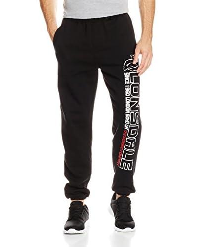 Lonsdale Pantalone da Jogging Tolworth [Nero]