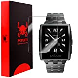 Skinomi® TechSkin - Pebble Steel Smartwatch Screen Protector Premium HD Clear Film with Lifetime Replacement Warranty / Ultra High Definition Invisible and Anti-Bubble Crystal Shield - Retail Packaging