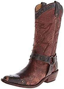 Bed Stu Women's Cisalpine Western Boot,Oxblood/Black,6 M US