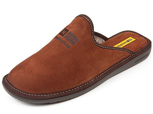 NORDIKAS, Pantofole uomo Marron 42.5 Marron Size: 42