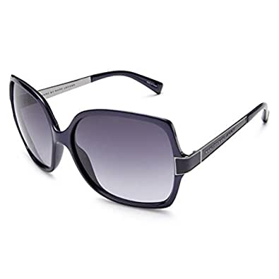 Marc by Marc Jacobs Women's MMJ 122/S Resin Sunglasses,Blue Ruthenium Frame/Gray Gradient Lens,one size